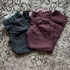 2 Jcrew Scout Chinos